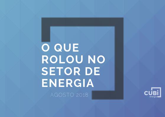 noticias setor elétrico em agosto de 2018